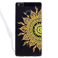 Case For Huawei P10 P10 lite Transparent Pattern Back Cover Case Flower Lace Printing Soft TPU with Sling for Huawei P8 lite P8 lite(2017) P9 lite