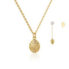 Жен. Серьги-гвоздики Серьги-слезки Ожерелья с подвесками Мода Простой стиль Стерлинговое серебро В форме листа НазначениеСвадьба Для