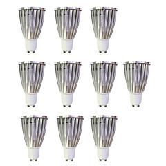 preiswerte LED-Birnen-10 Stück 6W 480lm GU10 LED Spot Lampen MR16 1 LED-Perlen COB Warmes Weiß / Weiß 220-240V