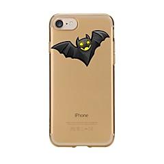 Caso per iphone 7 6 copertura posteriore ultra-sottile della copertura posteriore morbida di tpu di halloween 7 più 6 6s più se 5s 5 5c 4s