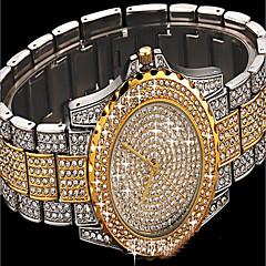 preiswerte Damenuhren-Damen Armband-Uhr Simulierter Diamant Uhr Pavé-Uhr Japanisch Quartz Kreativ Imitation Diamant Mehrfarbig Edelstahl Band Analog Charme Luxus Glanz Silber / Gold / Rotgold - Silber Rotgold Gold / Weiß