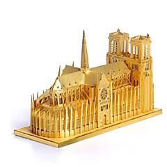 voordelige -3D-puzzels Legpuzzel Beroemd gebouw Architectuur 3D Roestvast staal Metaal 6 jaar en ouder
