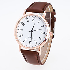 Men's Women's Dress Watch Fashion Watch Wrist watch Chinese Quartz PU Band Casual Black Brown