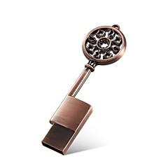 Μεταλλικό κλειδί σχήμα 64GB usb 2.0 flash drive μνήμης ραβδί αδιάβροχο USB flash disk δίσκο αντίχειρα χαριτωμένο δώρο με τη συσκευασία