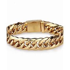 Męskie Bransoletki i łańcuszki na rękę Modny Stal nierdzewna Geometric Shape Biżuteria Na Impreza Codzienny Casual