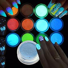 Art Deco/Retro Salama DIY-tarvikkeet Powder Tytöt ja nuoret naiset Hohtaa pimeässä 3-D Nail Salon Tool Hand Lepää