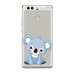 Недорогие Чехлы и кейсы для Huawei Mate-Кейс для Назначение Huawei P9 / Huawei P9 Lite / Huawei P8 Прозрачный / С узором Кейс на заднюю панель Животное / Мультипликация Мягкий ТПУ для P10 Plus / P10 Lite / P10 / Huawei P9 Plus / Mate 9 Pro