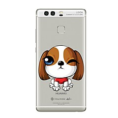 Недорогие Чехлы и кейсы для Huawei Mate-Кейс для Назначение Huawei P9 / Huawei P9 Lite / Huawei P8 Прозрачный / С узором Кейс на заднюю панель С собакой Мягкий ТПУ для P10 Plus / P10 Lite / P10