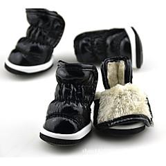 Σκύλος Παπούτσια & Μπότες Διατηρείτε Ζεστό Μπότες Χιονιού Μονόχρωμο Μαύρο Βυσσινί Φούξια Μπλε Για κατοικίδια