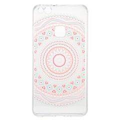 お買い得  Huawei Pシリーズケース/ カバー-ケース 用途 Huawei クリア パターン バックカバー 幾何学模様 フラワー ソフト TPU のために P10 Lite P10 P8 Lite (2017) Huawei