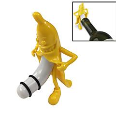 Legrační mr. Banán víno zátka novinka červená láhev vína silikonová zátka tvůrčí bar nástroj pro víno milovníka dárek - 1ks