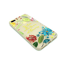 Чехол для яблока iphone 7 плюс 7 матовый тисненый узор задняя обложка слово фраза цветок мягкий tpu 6s плюс 6 плюс 6s 6