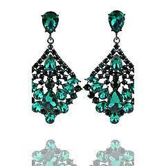 preiswerte Ohrringe-Damen Kronleuchter Tropfen-Ohrringe - Tropfen Erklärung, Modisch Gold / Grün Für Hochzeit / Party
