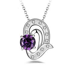 preiswerte Halsketten-Damen Anhängerketten Imitation Diamant Herzform Aleación Modisch Klassisch Schmuck Für Party Alltag Bühne