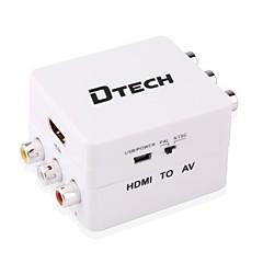 voordelige HDMI-HDMI 1.4 Converter, HDMI 1.4 to 3RCA Converter Vrouwelijk - Vrouwelijk