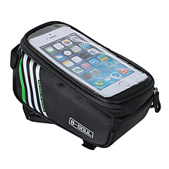 B-SOUL Waterproof Bike Frame Bag Tube Bag Cell Phone Bag 5.7 inch Wearable Phone Holder Touch Screen Cycling for Samsung Galaxy S4