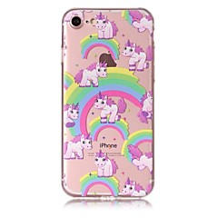 Case for iphone 7 7plus case cover rainbow unicorn pattern tpu материал устойчивый к царапинам корпус телефона для iphone 6s 6 6plus 6s
