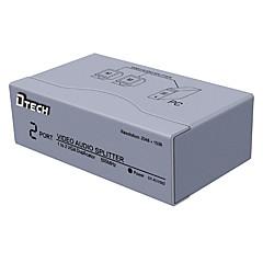 Недорогие VGA-VGA Сплиттер, VGA to VGA 3,5 мм аудио разъем Сплиттер Female - Female