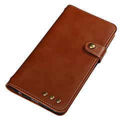 Недорогие Кейсы для Huawei других серий-Кейс для Назначение Huawei Бумажник для карт Кошелек Флип Магнитный Чехол Сплошной цвет Твердый Кожа PU для Huawei Y6 II / Honor Holly 3