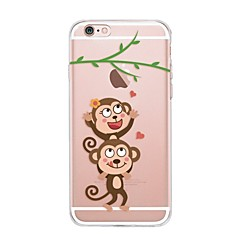 voordelige iPhone 5 hoesjes-hoesje Voor Apple iPhone X iPhone 8 Transparant Patroon Achterkant Spelen met Apple-logo Cartoon Zacht TPU voor iPhone X iPhone 8 Plus
