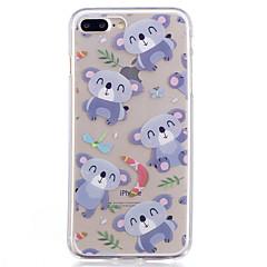 Случай для яблока iphone 7 7 плюс крышка случая крышки шаржа покрашенная высокое проникновение tpu материал imd процесс мягкий случай