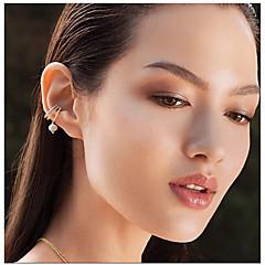 preiswerte Ohrringe-Damen Kubikzirkonia Klips - Zirkon, versilbert Böhmische, Modisch, nette Art Silber Für Hochzeit / Geschenk / Alltag