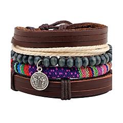 abordables Bijoux pour Femme-Homme Bracelets de rive Bracelets Bracelets en cuir - Cuir Personnalisé Bracelet Marron Pour Noël Cadeau Scène