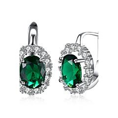preiswerte Ohrringe-Damen Kubikzirkonia Tropfen-Ohrringe - Zirkon Tropfen Luxus, Modisch Weiß / Grün Für Party / Arbeit