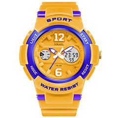 preiswerte Tolle Angebote auf Uhren-SMAEL Herrn Sportuhr Digital 50 m Schlussverkauf PU Band Analog-Digital Charme Weiß / Blau / Orange - Rosa Gold / Weiß Marine / Weiß
