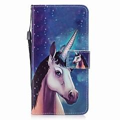Недорогие Кейсы для iPhone-Кейс для Назначение Apple iPhone 7 / iPhone 7 Plus Кошелек / Бумажник для карт / Флип Чехол единорогом Твердый Кожа PU для iPhone 7 Plus / iPhone 7 / iPhone 6s Plus