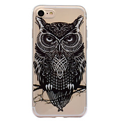 Недорогие Кейсы для iPhone 7-Кейс для Назначение Apple iPhone 7 iPhone 7 Plus IMD С узором Задняя крышка Сова Мягкий TPU для iPhone 7 Plus iPhone 7 iPhone 6s Plus