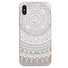 Voor iPhone X iPhone 8 Hoesje cover Patroon Achterkantje hoesje Mandala Lace Printing Zacht TPU voor Apple iPhone X iPhone 7s Plus iPhone