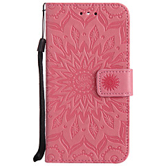 For Case Cover Card Holder Wallet with Stand Flip Pattern Full Body Case Mandala Hard PU Leather for LG LG K10 (2017) LG K10 LG K8 (2017)