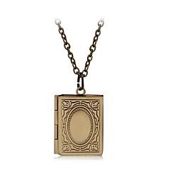 preiswerte Halsketten-Medaillon Halskette / Anhänger - versilbert Medaillon Anhänger Silber / Bronze / Champagner Für Alltagskleidung / Normal