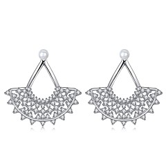 Γυναικεία Κουμπωτά Σκουλαρίκια Κρεμαστά Σκουλαρίκια Cubic Zirconia Μοντέρνα Υποαλλερικό Μαργαριτάρι Ζιρκονίτης Taper Shape Κοσμήματα Για