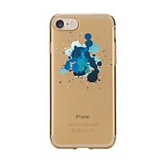 Назначение iPhone 7 iPhone 7 Plus Чехлы панели Прозрачный С узором Задняя крышка Кейс для другое Мягкий Термопластик для Apple iPhone 7