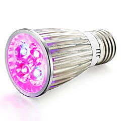 E14 GU10 E27 LED Grow Lights 4 High Power LED 360-400 lm Red Blue K AC85-265 V