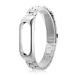 abordables Correas para Reloj-reloj de pulsera de acero inoxidable correa banda de reloj de bucle para xiaomi mi banda 2 -silver