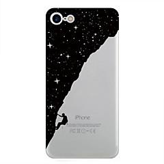 Недорогие Кейсы для iPhone-Кейс для Назначение Apple iPhone 7 Plus iPhone 7 С узором Кейс на заднюю панель Цвет неба Мягкий ТПУ для iPhone 7 Plus iPhone 7 iPhone 6s