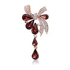 Χαμηλού Κόστους Καρφίτσες-Γυναικεία Καρφίτσες Στρας Μοντέρνα Κομψή Στρας Κράμα Bowknot Shape Κοσμήματα Για Πάρτι Causal