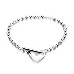 Női Lány Lánc & láncszem karkötők Kristály Szív Divat Kristály Ezüstözött Oval Shape Geometric Shape Ékszerek Kompatibilitás Esküvő Parti