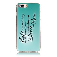 Voor iPhone X iPhone 8 Hoesje cover Ultradun Patroon Achterkantje hoesje Woord / tekst Zacht TPU voor Apple iPhone X iPhone 7s Plus