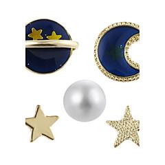 preiswerte Ohrringe-Damen Ohrstecker - Perle Luxus, Geometrisch Gold Für Party Schultaschen