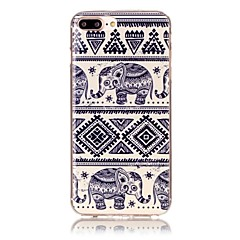 billige iPhone-etuier-Til iPhone X iPhone 8 Etuier Mønster Bagcover Etui Elefant Blødt TPU for Apple iPhone X iPhone 8 Plus iPhone 8 iPhone 7 Plus iPhone 7