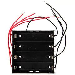 18650用高性能DIY 4スロットボタン電池ホルダー保護ボックス
