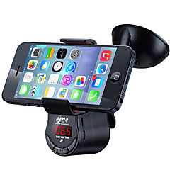お買い得  カーアクセサリー-fm09多機能ハンズフリーカーキットfmのトランスミッタmp3オーディオプレーヤー車のサクションホルダーマウント携帯電話のGPS