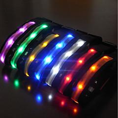 Gallérok Fényvisszaverő LED fény Strobe Egyszínű Műanyag