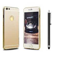 Недорогие Кейсы для iPhone 7-Кейс для Назначение Apple iPhone X iPhone 8 Защита от удара Покрытие Зеркальная поверхность Кейс на заднюю панель Сплошной цвет Твердый