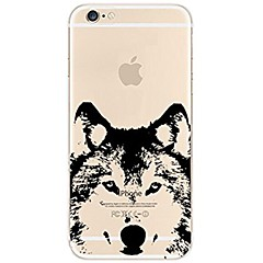 Недорогие Кейсы для iPhone 7 Plus-Кейс для Назначение Apple iPhone X iPhone 8 Прозрачный С узором Кейс на заднюю панель С собакой Мягкий ТПУ для iPhone X iPhone 8 Pluss