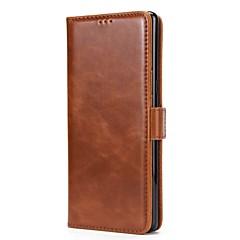 Case Kompatibilitás Samsung Galaxy Note 8 Note 5 Pénztárca Kártyatartó Állvánnyal Flip Mágneses Teljes védelem Tömör szín Kemény Valódi